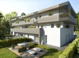 Rif. 2A Nuovo appartamento con giardino a Tombelle
