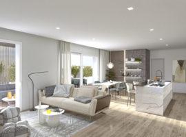 Rif. 3A Nuovo appartamento con giardino a Tombelle